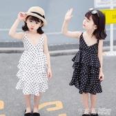 2019新款女童韓版雪紡洋裝子兒童公主裙夏季裝女寶寶吊帶裙5歲6 茱莉亞