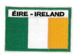 愛爾蘭全繡臂章 IRELAND國旗刺繡貼 3D貼布章 布藝 識別章 熨燙 布標 外套 貼布繡1入