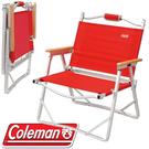 【Coleman 美國 輕薄摺疊椅〈紅〉】CM-7670J/摺疊椅/導演椅/露營椅/休閒椅