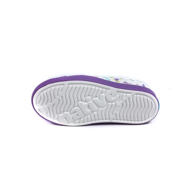 native JEFFERSON PRINT 懶人鞋 洞洞鞋 白/紫 海底生物 小童 童鞋 15100101-8968 no054