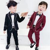 全館85折男孩男童西裝套裝2019新款韓版英倫男寶寶休閒小西服兒童禮服春秋