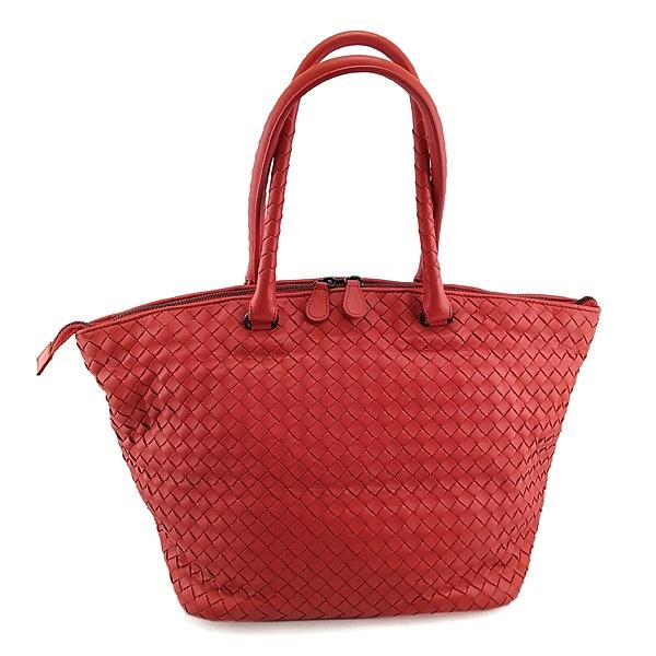 【奢華時尚】BOTTEGA VENETA 玫瑰紅色編織皮革肩背大水餃包(八五成新)#25030
