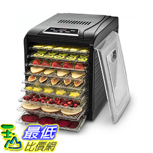 [106美國直購] Gourmia GFD1950 Digital Food Dehydrator - Nine Drying Trays Plus Fruit Leather Tray
