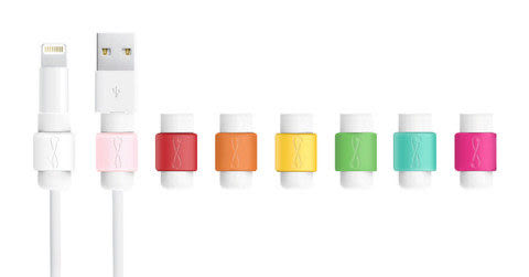 正品 好評熱銷 8色可選 i線套 Apple 傳輸線救星 適用 iPhone iPad iPod 1入裝