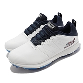 Skechers 高爾夫球鞋 Go Golf PRO 4 Legacy 男鞋 白 深藍 軟釘 防水 【ACS】 214001-WNV