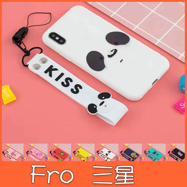 三星 S10 S10+ S10e Note9 S9 S9 pluS 立體吊飾彩繪殼 手機殼 全包邊 軟殼 手繩 掛件 掛繩