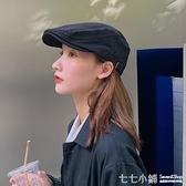 帽子女復古反戴前進帽韓版潮日系百搭英倫貝雷帽畫家帽ins鴨舌帽