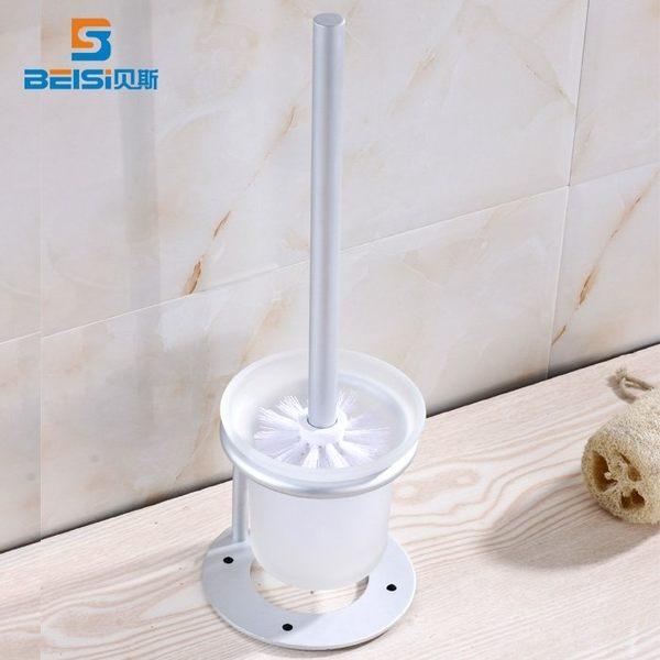 小熊居家太空鋁馬桶刷浴室 廁所刷 落地馬桶刷套裝衛生間清潔刷三件套裝特價