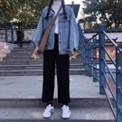 寬鬆直筒褲春秋季休閒大碼工裝學生cec西裝褲女小腳九分褲哈倫褲 暖心生活館生活館