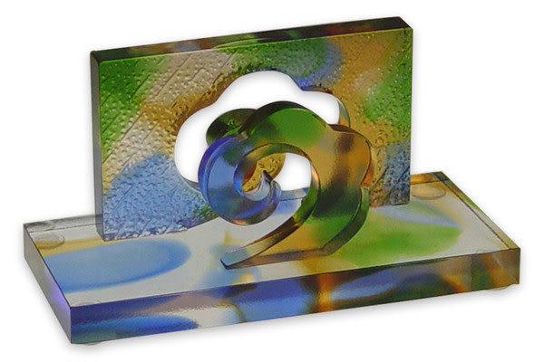 鹿港窯~居家開運琉璃名片座【風雲際會】附精美包裝◆附古法製作珍藏保證卡◆免運費送到家