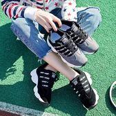 運動鞋 跑步鞋女韓版學生球鞋百搭原宿休閒女鞋平底「Chic七色堇」