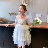 高檔禮服裙夏季新款女童婚紗公主裙寶寶生日裙小女孩蛋糕裙兒童裙「錢夫人小鋪」