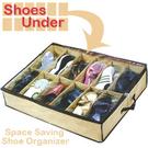 12格不織布折疊鞋盒.拉鏈收納箱收納盒.透明翻蓋置物箱置物盒子分格防塵床底收納袋收納神器整理