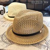 夏天鏤空親子款爵士帽