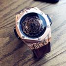 歐美風新概念時尚潮流男士防水手錶學生錶男大錶盤手錶個性石英錶 智慧e家 新品