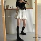 半身裙女春秋高腰顯瘦日系蓬蓬裙A字裙子辣妹短裙夏【時尚大衣櫥】