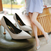 細跟鞋白色女尖頭細跟黑色韓版百搭春季新款夏單鞋 mc9453【3C環球數位館】