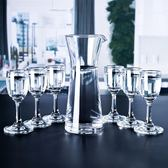 進口玻璃白酒杯小酒杯高腳杯烈酒杯家用酒具一口杯6只套裝【全館免運】