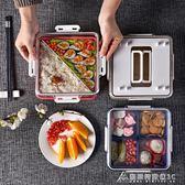 三層飯盒日式分隔便當盒保鮮可微波爐加熱塑料飯盒密封帶蓋酷斯特數位3C