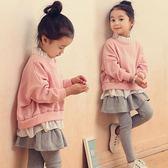 童裝女童秋裝套裝韓版潮衣兒童時髦洋氣假兩件裙褲兩件套 探索先鋒