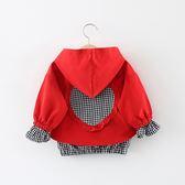 牛仔外套 秋裝外套韓版洋氣嬰兒衣服風衣女童9童裝6個月12【小天使】