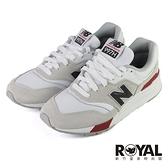 New Balance 997 灰白紅 麂皮 復古 運動鞋 男女款 NO.B2064【新竹皇家 CM997HVW】