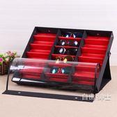 眼鏡貨架18格眼鏡收納盒多格大眼鏡展示盒展示架太陽鏡架子 1件免運