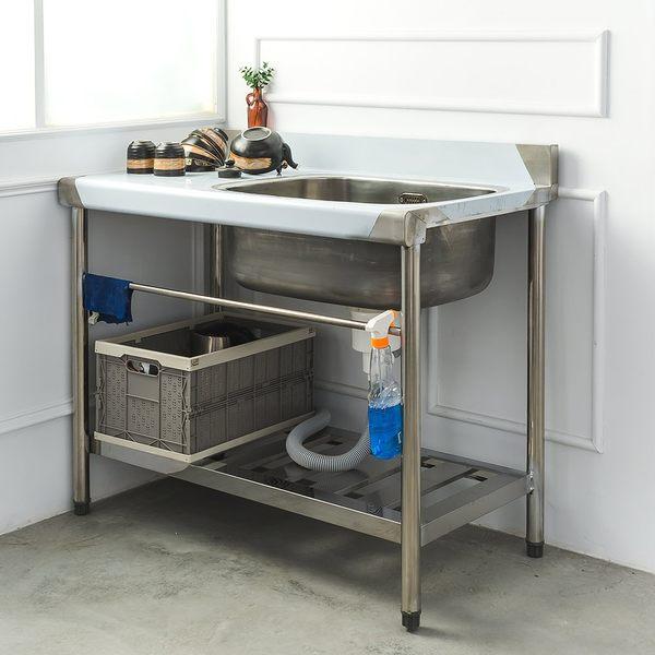 流理台/洗手台/洗碗槽  不鏽鋼【100公分 右水槽】單洗水槽 dayneeds