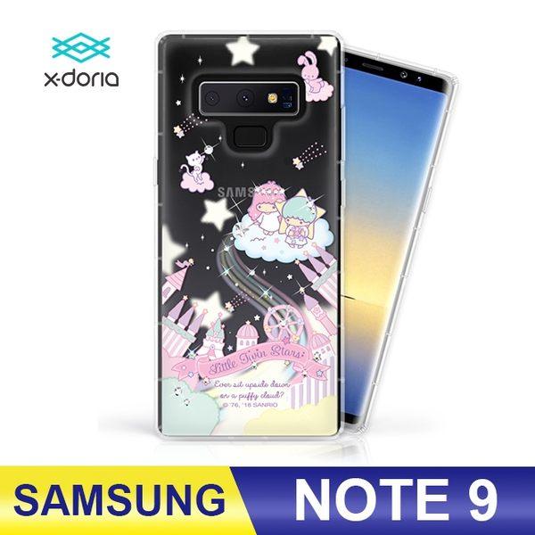 SAMSUNG Galaxy Note9 雙子星Kiki&Lala 水鑽彩繪手機殼 空壓殼 防摔殼 保護殼 三麗鷗正版授權 城堡