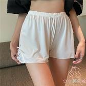 打底褲高腰顯瘦薄款安全褲子夏季蕾絲防走光休閒寬松短褲【少女顏究院】