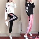 熱賣運動套裝 運動服套裝女2021春秋裝新款韓版時尚顯瘦長袖學生衛衣休閒兩件套 coco