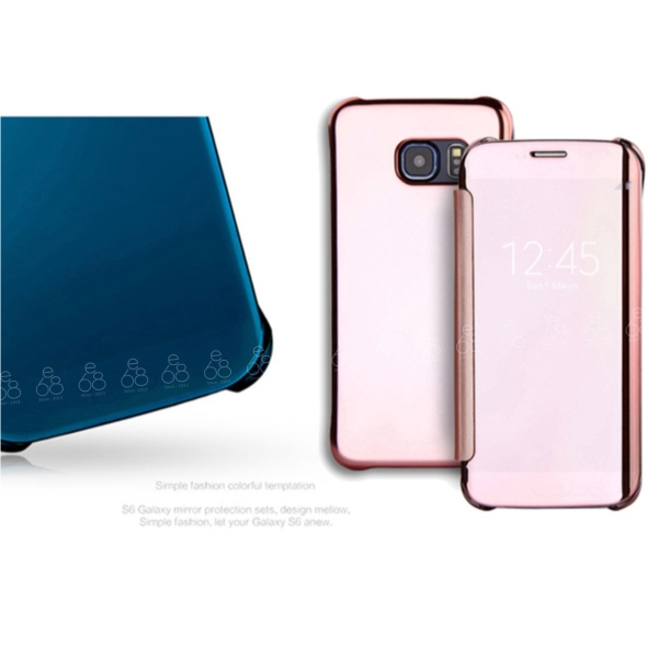 鏡面 智能皮套 三星 J7 Pro 5.5吋 手機殼 手機套 休眠喚醒 鏡子 來電訊息顯示 保護殼 硬殼