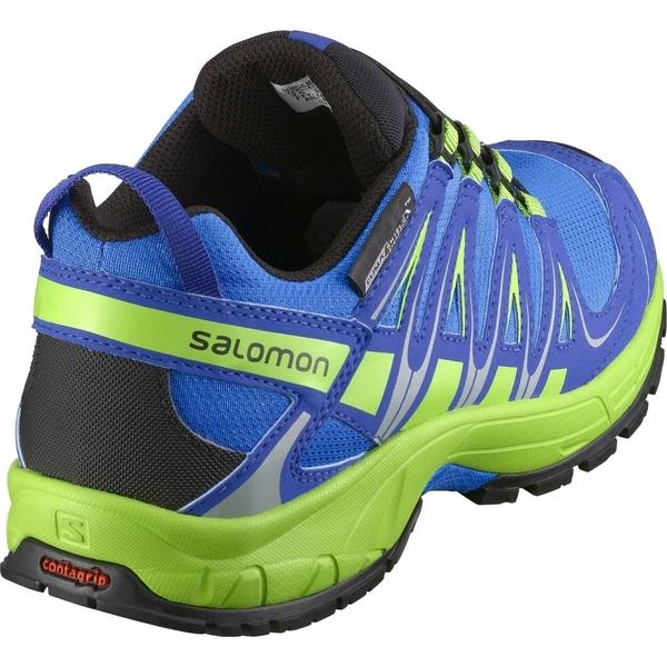 [法國Salomon] XA Pro 3d CSwp Kids 兒童登山鞋 - 藍/綠
