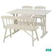 ◎實木餐桌椅四件組 FANCY WASH 橡膠木 NITORI宜得利家居
