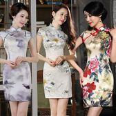日常短款旗袍夏季新款少女中國風復古修身改良中式祺袍洋裝 初語生活