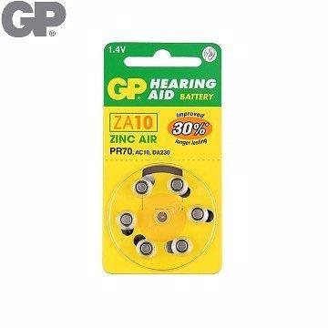 {光華成功NO.1}GP 助 聽 器 用電池ZA10 (6入)(BAT-GPB-ZA10-D6)  喔!看呢來