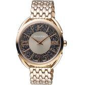SWAROVSKI施華洛世奇Crystalline Glam腕錶 5452462 灰褐面x香檳鋼