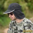 遮陽帽子-抗紫外線UV防潑水吸濕排汗休閒帽+可拆式披風J7502 JUNIPER