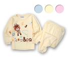 台製牛仔熊圖案純棉長袖居家服 睡衣套裝*3色 中大童秋冬童裝 [3627]