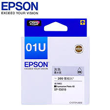 EPSON T01U650/NO.01U 灰色 原廠墨水匣 適用 EPSON Newton  XP-15010 Dye