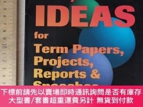 二手書博民逛書店10000罕見ideas for term papers projects reports and speeche
