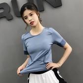 速干衣女短袖T恤速干透氣2019夏新款緊身圓領健身跑步訓練上衣
