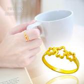 Justin金緻品 黃金戒指 旋轉舞花 金飾 黃金女戒指 9999純戒指 金戒子 花朵