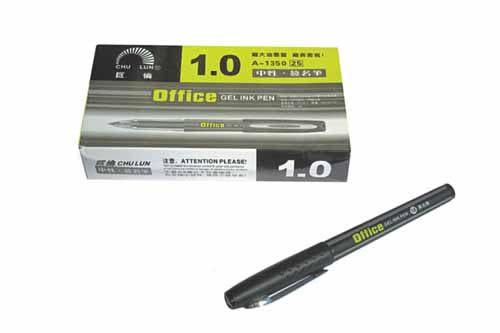 巨倫 A-1350 1.0中性簽名筆(黑) 12支/盒