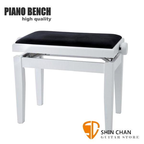 PIANO BENCH 白色鋼琴椅 PJ023 可調整高度鋼琴椅/電鋼琴椅/電子琴椅/piano琴椅/Keyboard椅 GEWA同款