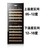 紅酒櫃壓縮機恒溫紅酒櫃家用雪茄櫃冰吧茶葉雙溫雙控 法布蕾輕時尚igo220V