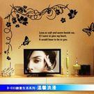 B-033創意生活系列-溫馨浪漫  大尺寸高級創意壁貼 / 牆貼