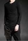 找到自己 韓國潮流 個性 不規則打底衫 時尚 街頭潮男 夜店 DJ 發型師 必備 長袖T恤 特色長T