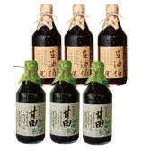 年節首選【豆油伯】甘田醬油(3瓶)+缸底醬油(3瓶)