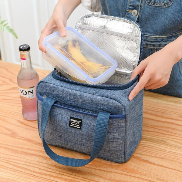《WEEKEIGHT》豪華耐磨防潑水加厚保溫袋/保冰袋/便當袋/午餐袋